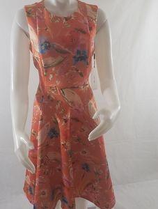 Calvin Klein floral print fit & flare midi dress